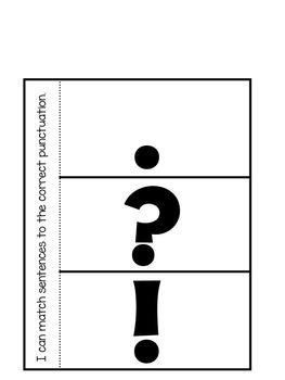Ending Punctuation Interactive Notebook Activities