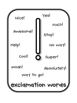 Ending Punctuation Key Words Charts