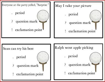 Ending Punctuation Learning Center (Golf Themed)
