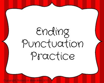 Ending Punctuation Practice