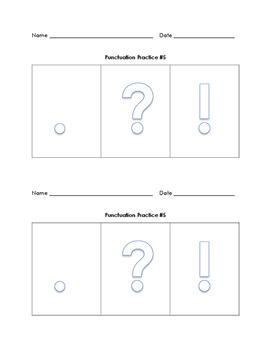 Ending Punctuation Review Unit