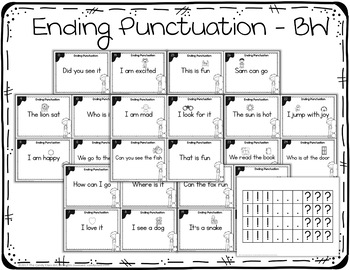 Ending Punctuation Task Cards - Capitalization & Punctuation Practice