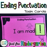 Ending Punctuation Task Cards for Kindergarten with Poster