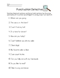 Ending Punctuation Worksheet