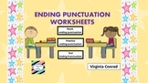Ending Punctuation Worksheets (10 worksheets)