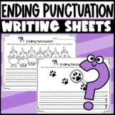 Ending Punctuation- Writing sentences: period, question mark, and exclamation pt