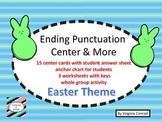 Ending Punctuation--activity, task cards, worksheets--East
