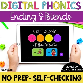 Ending S Blend Sound Tappers - Digital Phonics Learning {PowerPoint Games}