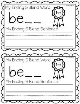 Ending S Blends {SK, SP, ST} Writing Book