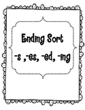 Ending Sort with -S -ES -ED -ING