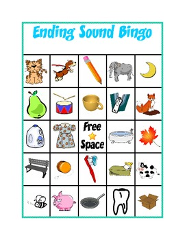 Ending Sound Bingo By Kindergarten Kreative Teachers Pay