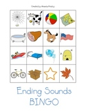Ending Sound Bingo Game