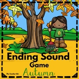 Special Education - Kindergarten -Ending Sound Card Game - Autumn