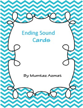 Ending Sound Cards with Letters Cards for Kindergarten: