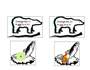 Ending Sound Changes to Make a New Word Polar Bear Phonemic Awareness Activity