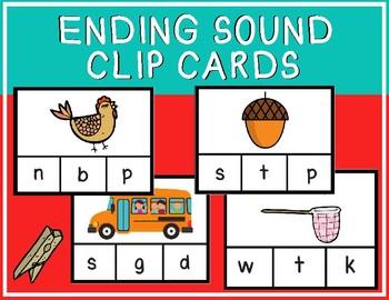 Ending Sound Clip Cards