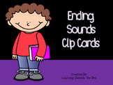 Ending Sound Clip Cards- Center or Morning Tubs