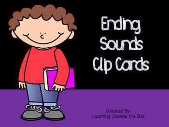 Ending Sound Clip Cards- Center or Morning Tubs