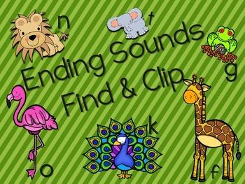 Ending Sound Find and Clip RF.K.2d