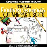 Ending Sound Phoneme Isolation Sorts