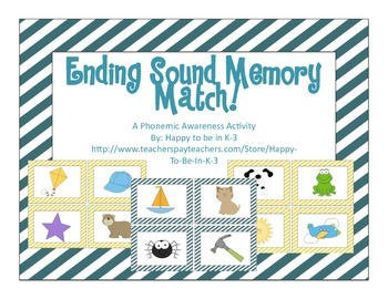 Ending Sound Picture Match Memory Game