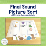 Final Sound Picture Sort - A Phonemic Awareness Activity