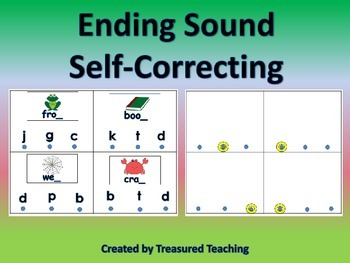 Ending Sound Practice Self Correction Hands On Literacy Center