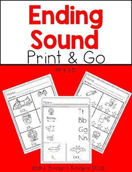 Ending Sound ~ Print and Go