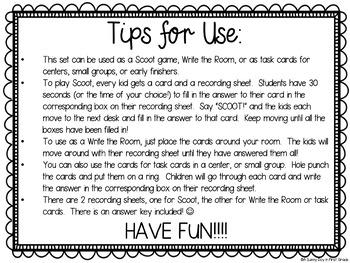 Ending Sound Scoot {task cards!}