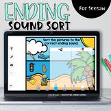 Ending Sound Sort   Seesaw Activities
