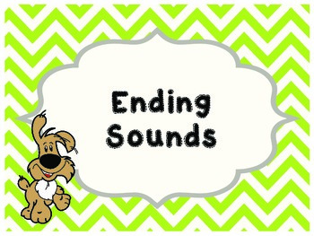 Ending Sounds Clip Card
