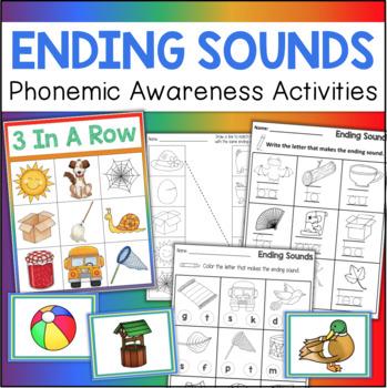 Ending Sounds Phonemic Awareness Activities