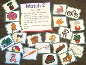 Ending Sounds Games and Worksheets
