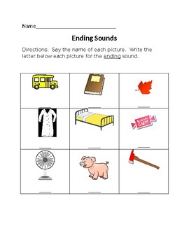 Ending Sounds
