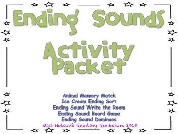 Ending Sounds Activity Packet