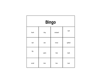 Ending Sounds Bingo