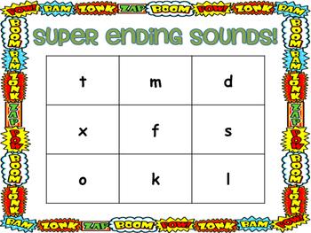 Ending Sounds Bingo Activity!