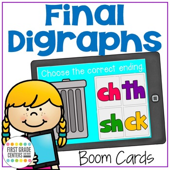Final Digraphs Boom Cards SH CH TH CK