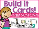 Ending Sounds Build It Cards!