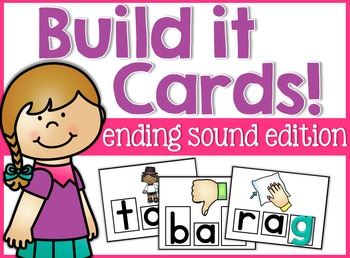 Ending Sounds Build It Cards!