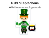 Ending Sounds Build a Leprechaun St. Patrick's Day Common Core