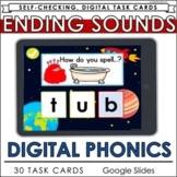 Ending Sounds CVC Words Distance Learning Literacy Google Slides