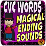 CVC Words Word Families Ending Sounds Literacy Centers Magic