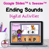 Ending Sounds CVC words Google & Seesaw Distance Learning