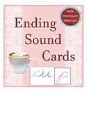 Ending Sounds  Cards - Cursive