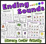 Ending Sounds Center Kindergarten