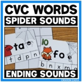 Ending Sounds Center with CVC Words - Spider Sounds