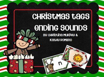 Ending Sounds Christmas Tags