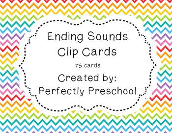 Ending Sounds Clip Cards