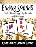 Ending Sounds Clip Cards and Printables